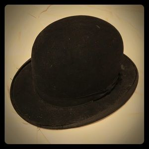 Vintage Black Bowler Hat from The Hatterie Akron